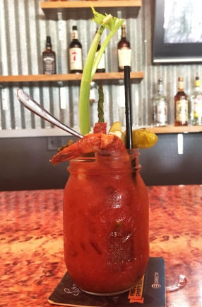 A loaded bloody Mary is practically its own meal.
