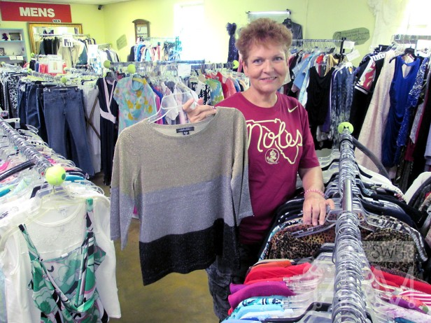 Deb Mathis is a thrift shop volunteer and member of the Grace Community Church congregation for the last five years.